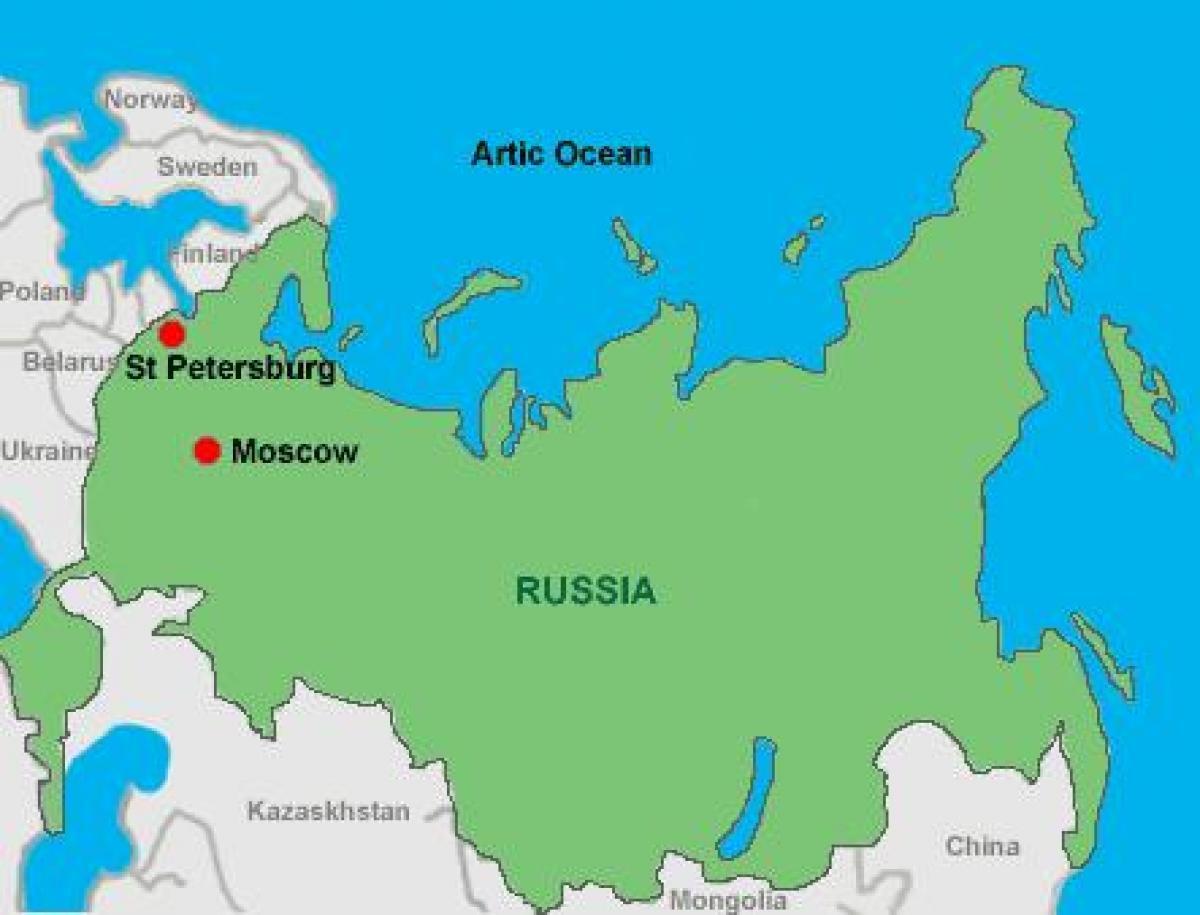 St Petersburg Russia Map Moscow st Petersburg map   Moscow and st Petersburg map (Russia)